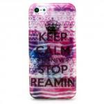 Třpytivé pouzdro iPhone 5c - Keep calm