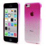 Kryt / Obal iPhone 5c - Růžový s kapkami