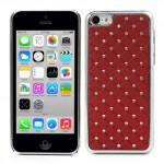 Kryt / Obal iPhone 5c - Červený s kamínky