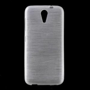 Pouzdro / Obal Broušený vzor, bílý - HTC Desire 620