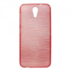 Pouzdro / Obal Broušený vzor, červený - HTC Desire 620