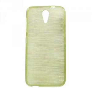 Pouzdro / Obal Broušený vzor, žlutozelený - HTC Desire 620
