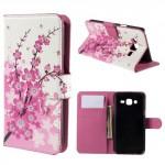 Koženkové knížkové pouzdro - Galaxy J5 - Květy 06