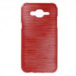Pouzdro Samsung Galaxy J5 - Broušený vzor, červený