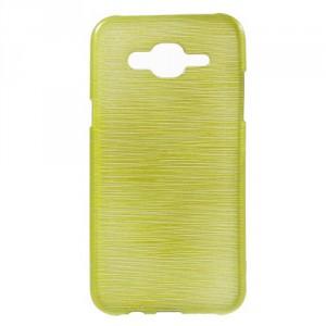 Pouzdro Samsung Galaxy J5 - Broušený vzor, žlutozelený