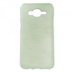 Pouzdro Samsung Galaxy J5 - Broušený vzor, zelený