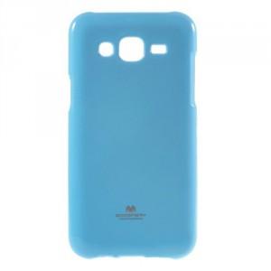 Pouzdro Jelly Case Samsung Galaxy J5 - Modrý lesklý třpytivý