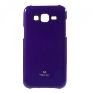 Pouzdro Jelly Case Samsung Galaxy J5 - Fialový lesklý třpytivý