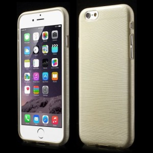 Pouzdro / Obal - Broušený vzor, champagne- iPhone 6