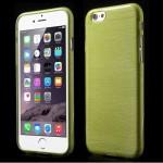 Pouzdro / Obal - Broušený vzor, žlutozelený - iPhone 6