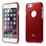 Obal Jelly Case - iPhone 6 - Červený lesklý třpytivý