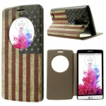 Tenké pouzdro S-view - LG G3s - Vlajka USA
