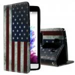 Koženkové knížkové pouzdro - LG G3s - Vlajka USA