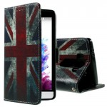 Koženkové knížkové pouzdro - LG G3s - Union Jack