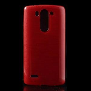 Pouzdro / Obal - Broušený vzor, červený - LG G3s