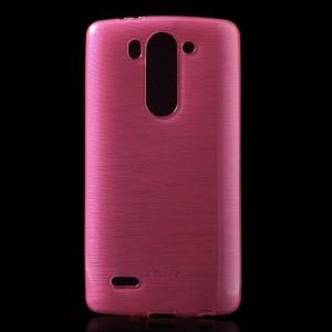 Pouzdro / Obal - Broušený vzor, růžový - LG G3s
