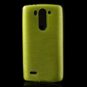 Pouzdro / Obal - Broušený vzor, žlutozelený - LG G3s
