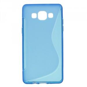 Pouzdro / Obal S-curve - Modré - Galaxy A5