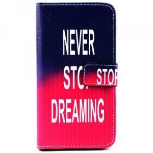 Koženkové pouzdro - Galaxy S5 i9600 - Never stop dreaming 01