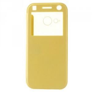 Tenké pouzdro S-view HTC One Mini 2 - Žluté