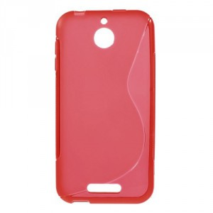 Pouzdro S-curve - HTC Desire 510 - Červené