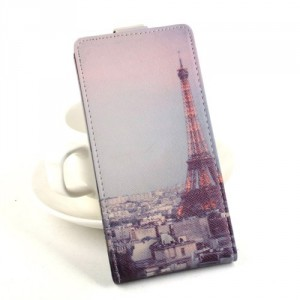 Koženkové pouzdro Flip - Lenovo S60 - Eiffelovka
