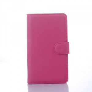 Koženkové pouzdro Xperia E4 - Tmavě růžové