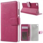 Koženkové pouzdro Huawei P8 - růžové