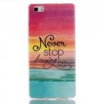 Pouzdro / Obal Huawei P8 Lite - Never stop dreaming