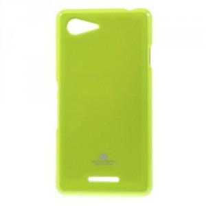 Pouzdro Jelly Case Xperia E3 - Zelené lesklé třpytivé