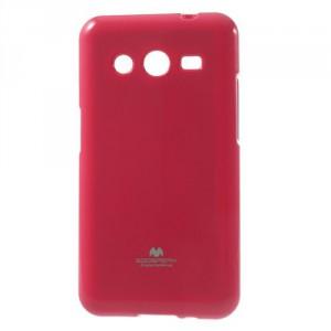 Obal Jelly Case Galaxy Core 2 - Fuchsia lesklý třpytivý