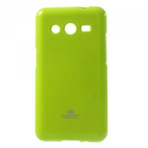 Obal Jelly Case Galaxy Core 2 - Zelený lesklý třpytivý