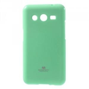 Obal Jelly Case Galaxy Core 2 - Tyrkysový lesklý třpytivý
