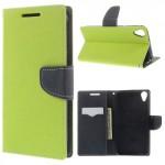 Pouzdro Fancy Diary HTC Desire 820 - zelené-tmavě modré