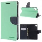 Pouzdro Fancy Diary HTC Desire 820 - tyrkysové-tmavě modré
