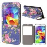 Pouzdro S-view Galaxy S5 i9600 - Květy 03