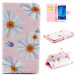 Koženkové knížkové pouzdro Galaxy J5 - Květy 07