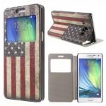Tenké pouzdro S-view - Galaxy A5 - Vlajka USA