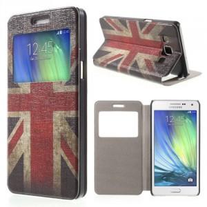 Tenké pouzdro S-view - Galaxy A5 - Union Jack