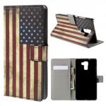 Koženkové pouzdro Honor 7 - Vlajka USA