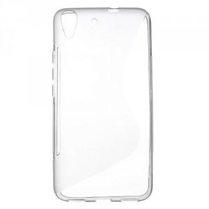 Pouzdro / Obal S-Curve Huawei Y6 - šedý