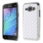 Kryt / Obal Galaxy J1 - Bílý s kamínky