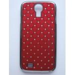 Sleva-Zadní kryt/Obal Galaxy S4 i9500 - Červený s kamínky