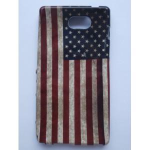 Sleva-Pouzdro / Obal Vlajka USA Vintage - Xperia M2