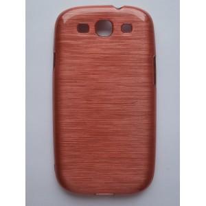 Sleva-Pouzdro / Obal - Broušený vzor, starorůžový - Galaxy S3 i9300