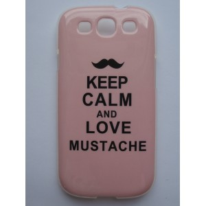 Sleva-Pouzdro/Obal - Keep calm and love moustache - Galaxy S3 i9300
