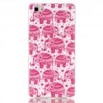 Pouzdro / Obal Huawei P8 Lite - sloni 02