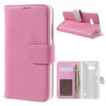 Koženkové knížkové pouzdro Lumia 550 - světle růžové 02