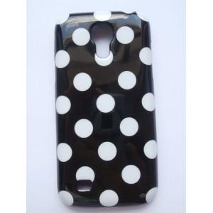 Sleva-Pouzdro/Obal - Galaxy S4 Mini i9190 - Bílý s černými puntíky