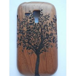 Sleva-Dřevěný kryt - Strom, Bambus - Galaxy S3 Mini i8190